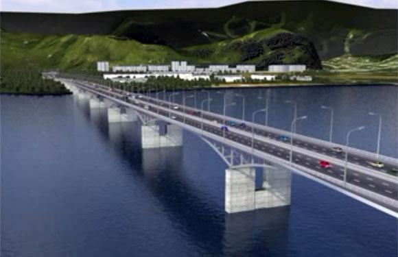 план схема строительства моста в Красноярске