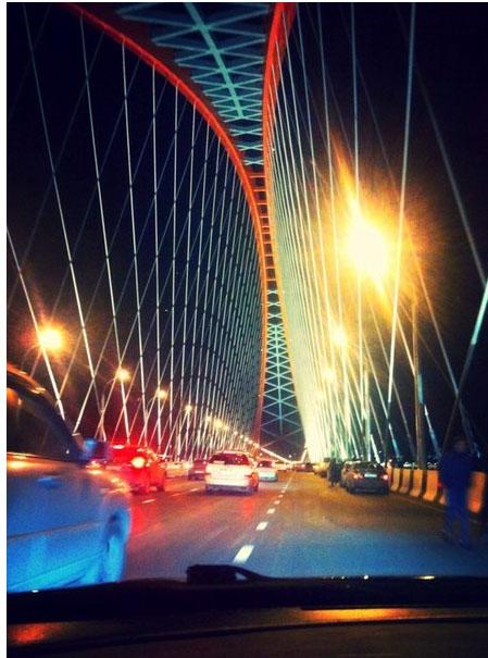 Бугринский мост с машины