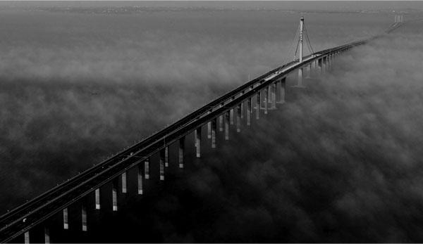 Циндаоский мост через залив в КНР