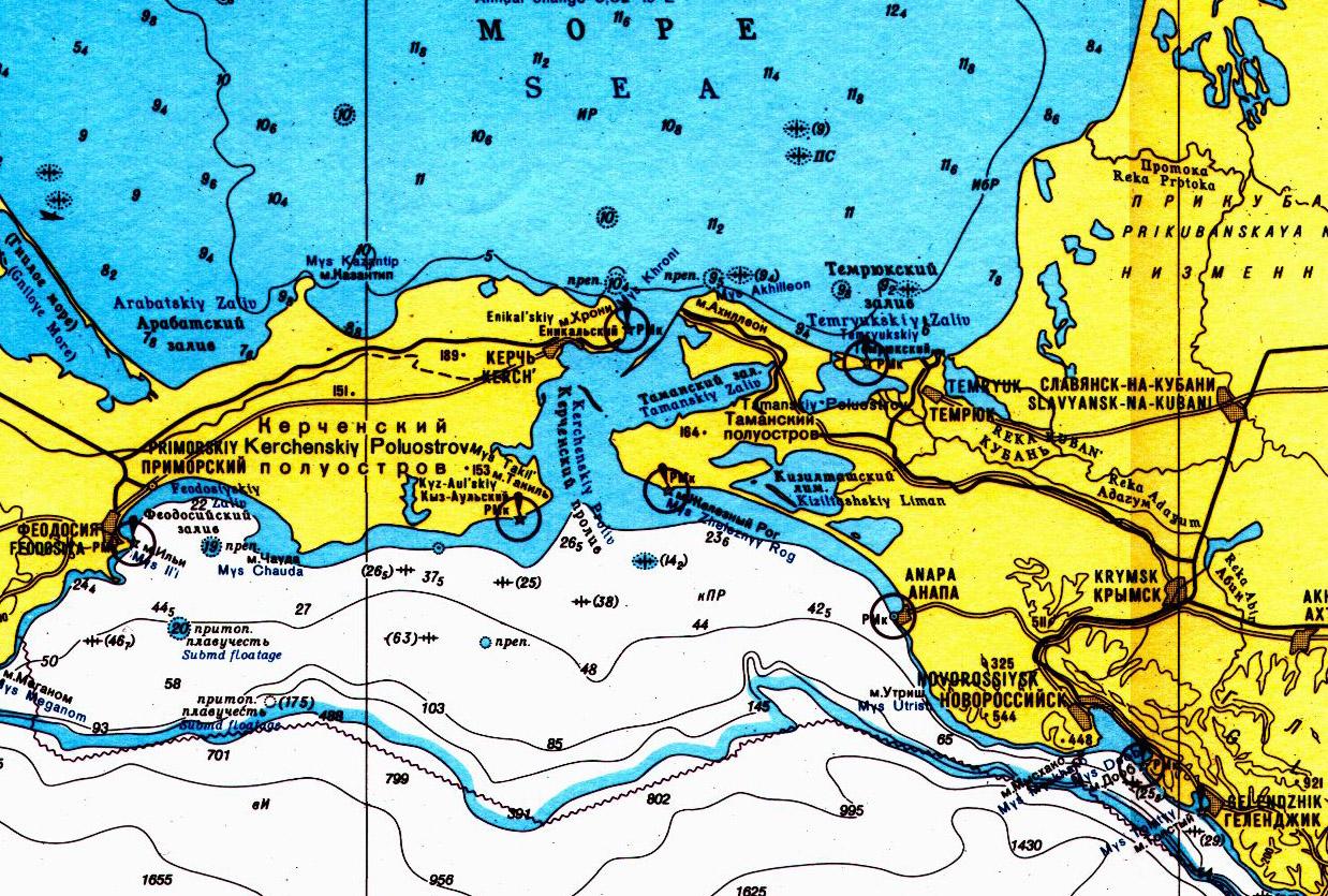 карта навигации в керченском проливе