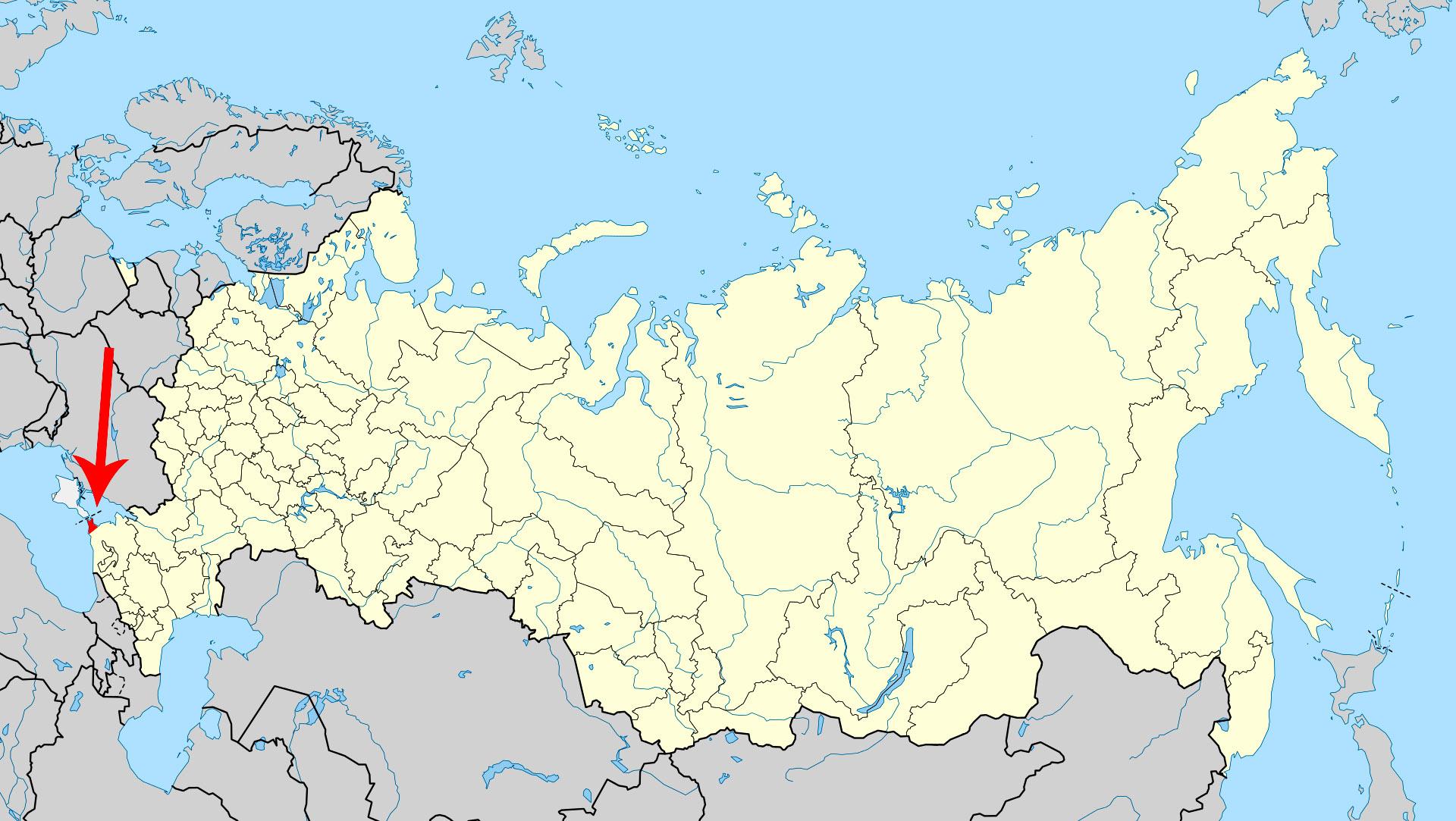 таманский полуостров на карте России