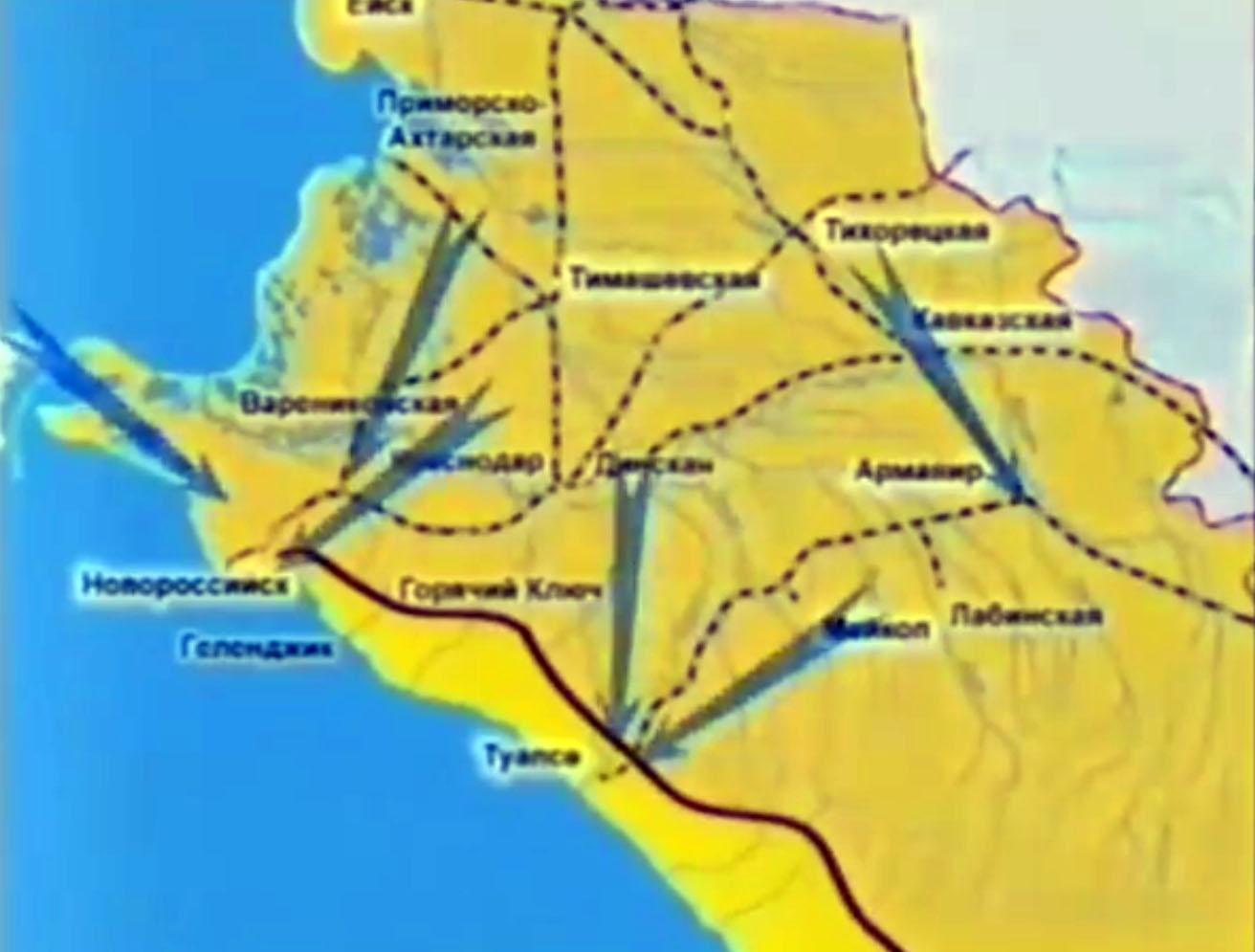 Укрепленный рубеж немцами на подступах к таманскому полуострову
