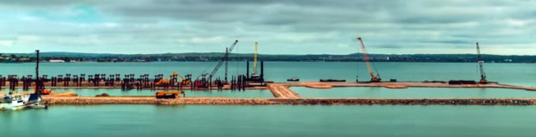 начало стройки Керченского моста