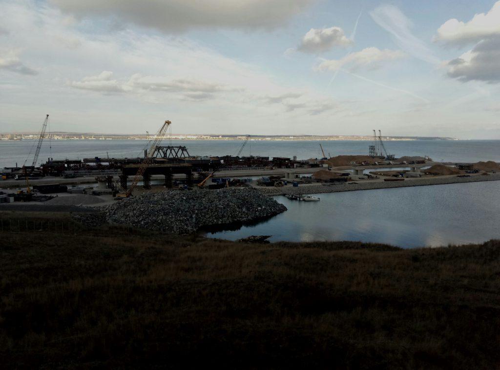 Досрочное выполнение годового плана, связанного с установкой опор Керченского моста