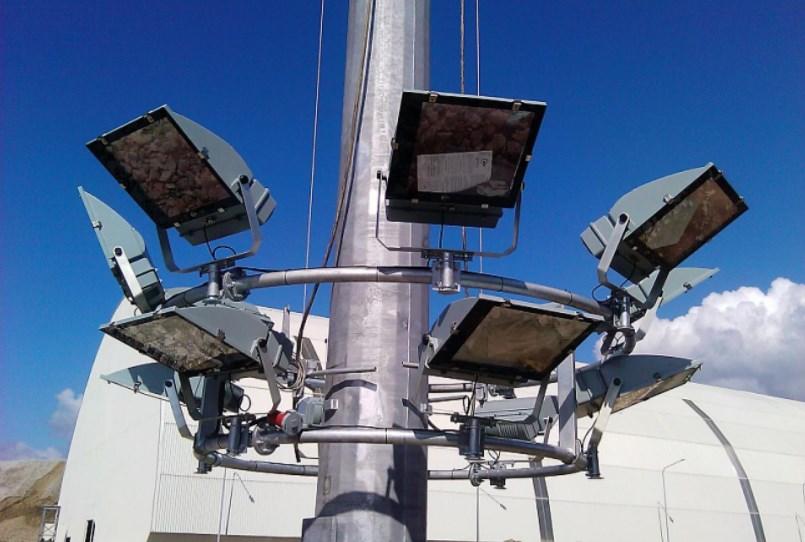 Мачты освещения с мобильной короной МГФ-М