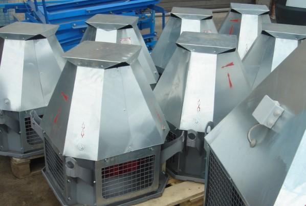 Использование кровельных вентиляторов типа ВКРМ