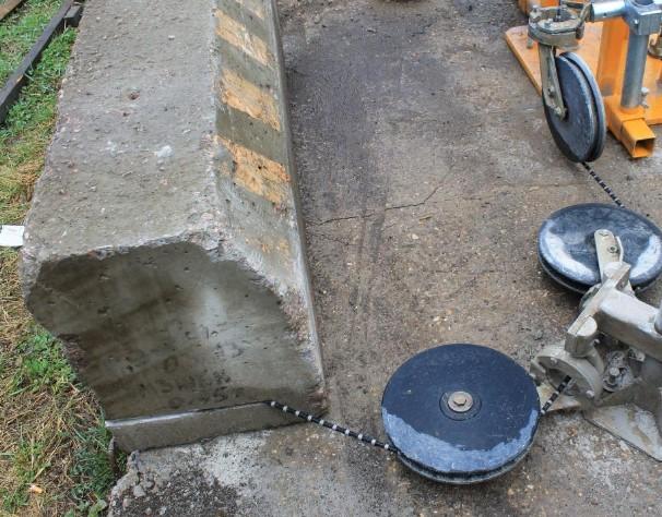 Резка бетона и натурального камня алмазным канатом