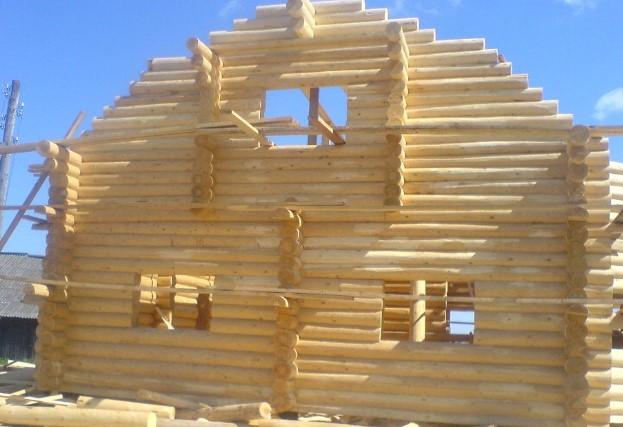 Строим деревянный дом зимой